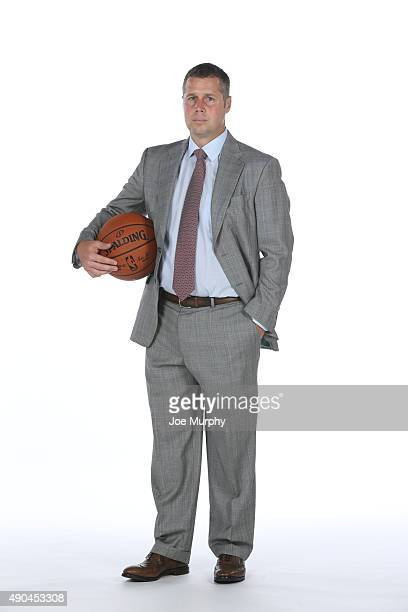 Head Coach Dave Joerger of the Memphis Grizzlies poses for a portrait during their 2015 media day at FedExForum on September 28 2015 in Memphis...