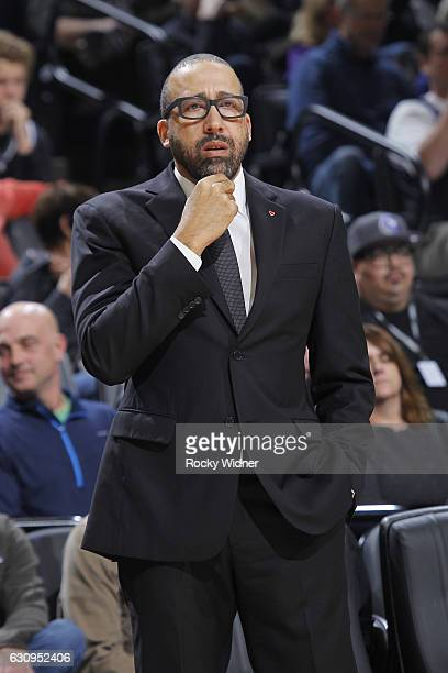 Head coach David Fizdale of the Memphis Grizzlies coaches against the Sacramento Kings on December 31 2016 at Golden 1 Center in Sacramento...