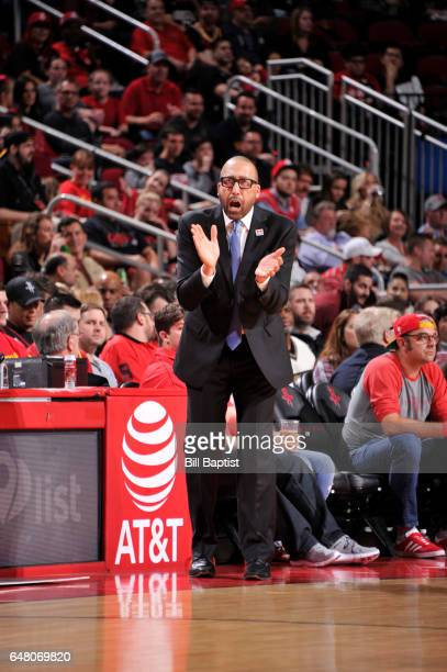 Head Coach David Fizdale of the Memphis Grizzlies is seen during a game against the Houston Rockets on March 4 2017 at the Toyota Center in Houston...