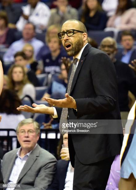 Head coach David Fizdale of the Memphis Grizzlies reacts to a non call against the Oklahoma City Thunder during the second half of a 103100 Oklahoma...