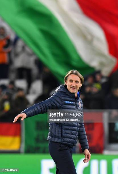 head coach Davide Nicola of FC Crotone after the Serie A match between Juventus and FC Crotone at Allianz Stadium on November 26 2017 in Turin Italy