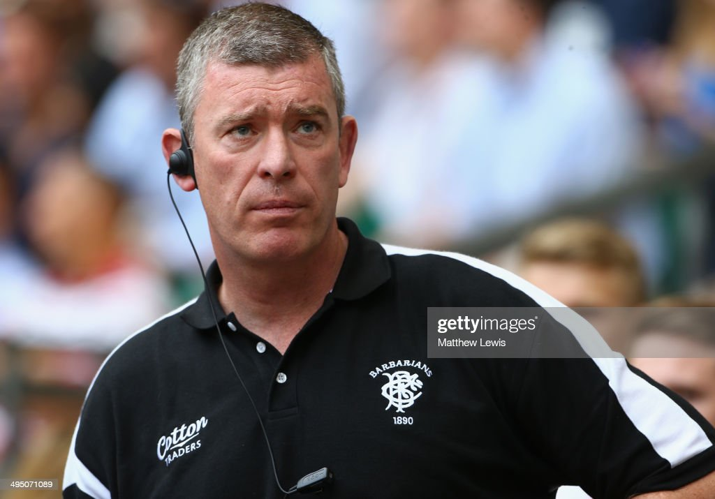Head Coach Dean Ryan of the Barbarians looks on during the Rugby Union International Match between England and The Barbarians at Twickenham Stadium on June 1, 2014 in London, England