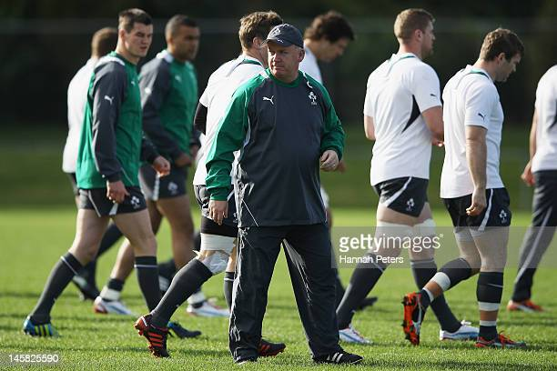 Head coach Declan Kidney during an Ireland rugby team training session at Onewa Domain on June 7 2012 in Takapuna New Zealand