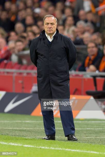 head coach Dick Advocaat of Netherlands looks on during the FIFA 2018 World Cup Qualifier between Netherlands and Sweden at Amsterdam ArenA on...