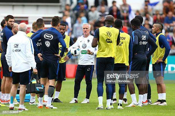 Head Coach Didier Deschamps of France during a training session during the preparation on the French football Team before Euro 2016 on May 18 2016 in...