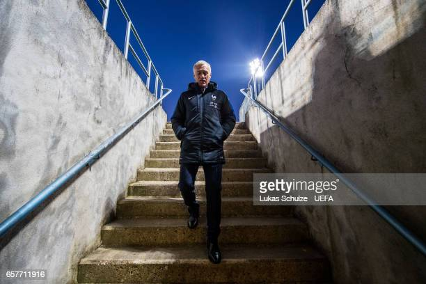 Head Coach Didier Deschamps of France walks in the players tunnel prior to the FIFA 2018 World Cup Qualifier between Luxembourg and France at Stade...
