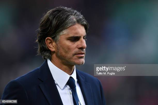 Head coach Diego Lopez of Palermo leaves the pitch after losing the Serie A match between US Citta di Palermo and Atalanta BC at Stadio Renzo Barbera...
