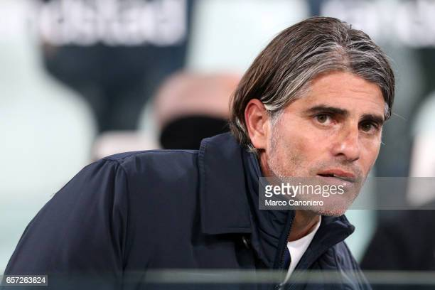 Head coach Diego Lopez of Palermo looks on during the Serie A match between Juventus FC and US Palermo at Juventus Stadium Juventus FC wins 41 over...
