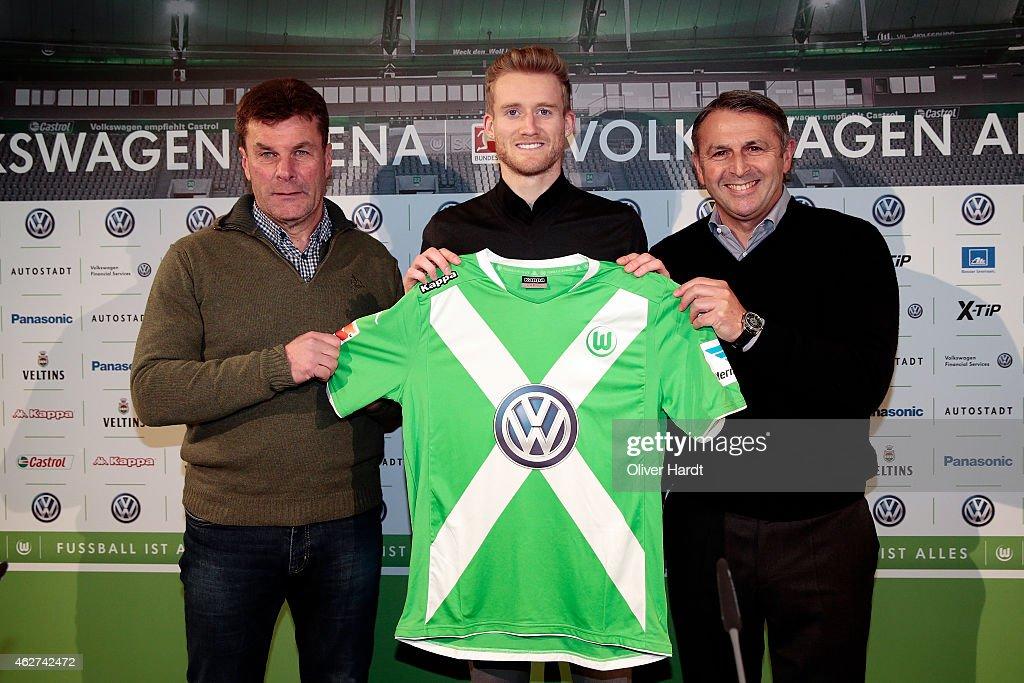 Press Conference VfL Wolfsburg - Andre Schuerrle