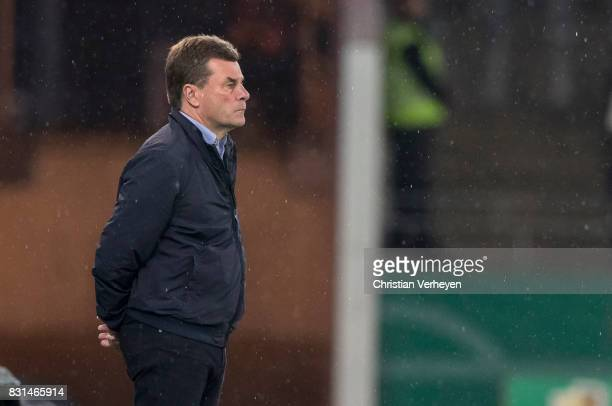 Head Coach Dieter Hecking of Borussia Moenchengladbach during the DFB Cup match between Rot Weiss Essen and Borussia Moenchengladbach at Stadion...