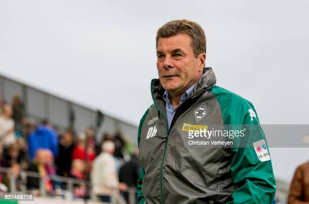 Head Coach Dieter Hecking of Borussia Moenchengladbach seen ahead the DFB Cup match between Rot Weiss Essen and Borussia Moenchengladbach at Stadion...