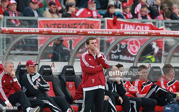 Head coach Dieter Hecking of Nuernberg reacts during the Bundesliga match between 1 FC Nuernberg and 1 FC Koeln at Easy Credit Stadium on May 8 2010...