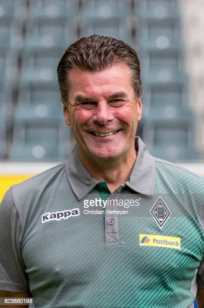 Head Coach Dieter Hecking pose during the team presentation of Borussia Moenchengladbach at BorussiaPark on July 28 2017 in Moenchengladbach Germany