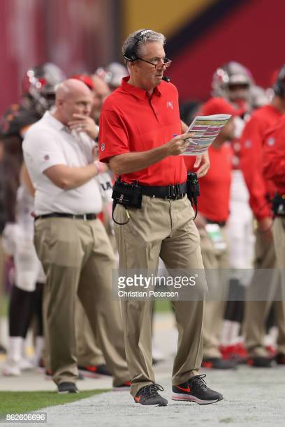 Head coach Dirk Koetter of the Tampa Bay Buccaneers during the first half of the NFL game against the Arizona Cardinals at the University of Phoenix...