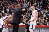 Head coach Doc Rivers and Austin Rivers of the Los Angeles Clippers during the game against the Cleveland Cavaliers on January 16 2015 at STAPLES...