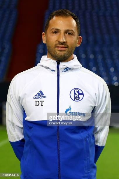 Head coach Domenico Tedesco of FC Schalke 04 poses during the team presentation at Veltins Arena on July 12 2017 in Gelsenkirchen Germany