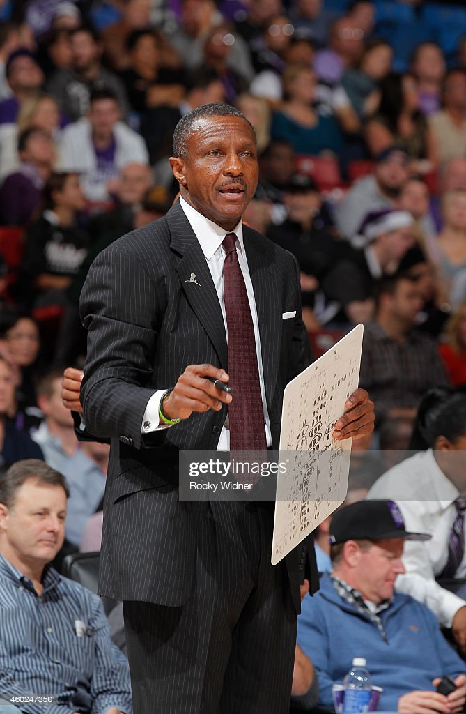 Head Coach Dwane Casey of the Toronto Raptors coaches against the Sacramento Kings on December 2 2014 at Sleep Train Arena in Sacramento California...
