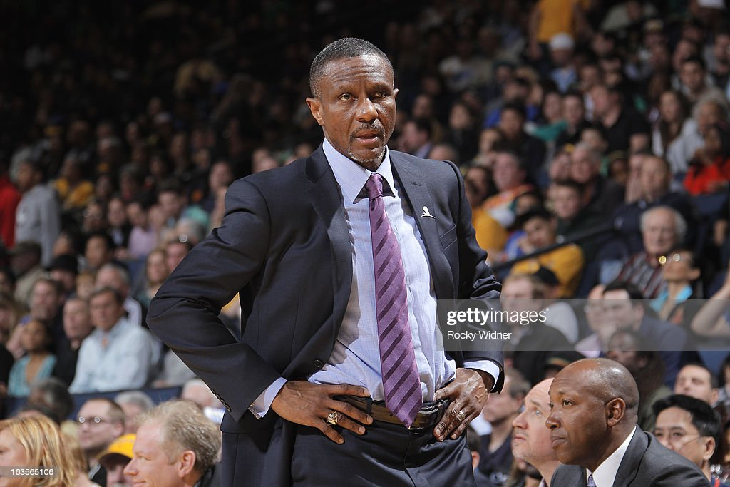 Head coach Dwane Casey of the Toronto Raptors during a game against the Golden State Warriors on March 4, 2013 at Oracle Arena in Oakland, California.