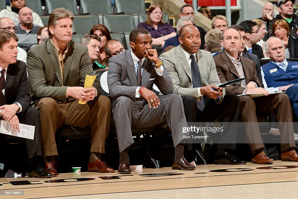 Head Coach Dwane Casey of the Toronto Raptors looks on during a game against the Charlotte Bobcats on March 15, 2013 at the Air Canada Centre in Toronto, Ontario, Canada.