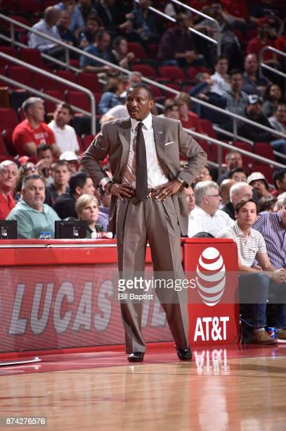 Head Coach Dwane Casey of the Toronto Raptors looks on during game against the Houston Rockets on November 14 2017 at the Toyota Center in Houston...