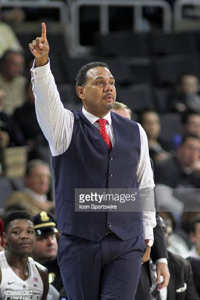 Head Coach Ed Cooley of the Providence College Friars during the game between the Providence College Friars and the University of New Hampshire...