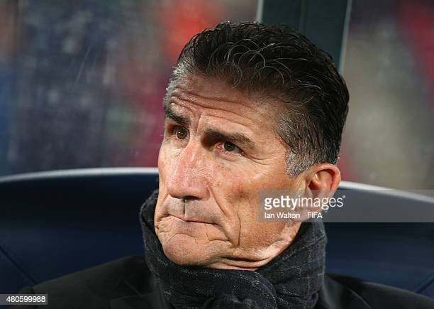 Head coach Edgardo Bauza of San Lorenzo during the FIFA Club World Cup Semi Final match between San Lorenzo v Auckland City FC at Marrakech Stadium...
