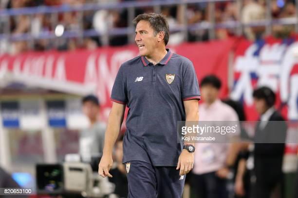 Head coach Eduardo Berizzo of Sevilla looks on during the preseason friendly match between Kashima Antlers and Sevilla FC at Kashima Soccer Stadium...