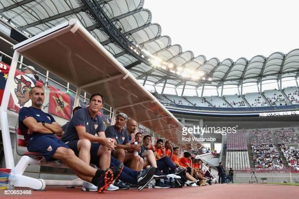 Head coach Eduardo Berizzo of Sevilla looks on prior to the preseason friendly match between Kashima Antlers and Sevilla FC at Kashima Soccer Stadium...