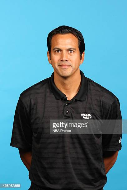Head coach Erik Spoelstra of the Miami Heat poses for a photo during Media Day at the America Airlines Arena in Miami Florida NOTE TO USER User...