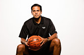Head coach Erik Spoelstra of the Miami Heat poses for a portrait during Miami Heat media day at AmericanAirlines Arena on September 28 2015 in Miami...