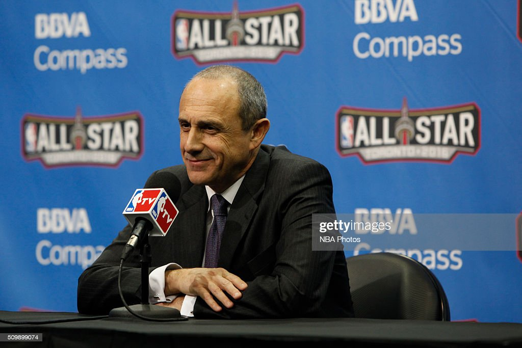 Head coach, <a gi-track='captionPersonalityLinkClicked' href=/galleries/search?phrase=Ettore+Messina&family=editorial&specificpeople=660672 ng-click='$event.stopPropagation()'>Ettore Messina</a> of the World Team speaks with press after the win against the USA Team for the BBVA Compass Rising Stars Challenge as part of the 2016 NBA All Star Weekend on February 12, 2016 at Air Canada Centre in Toronto, Ontario.