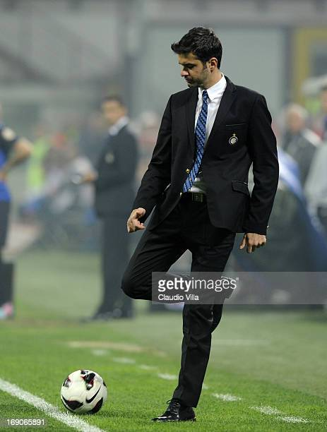 Head coach FC Inter Milan Andrea Stramaccioni dejected during the Serie A match between FC Internazionale Milano and Udinese Calcio at San Siro...