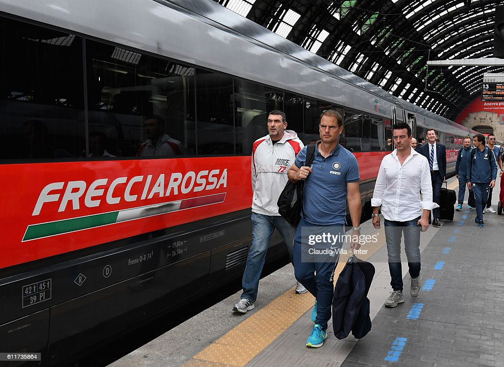 Head coach FC Internazionale Frank de Boer departs to Rome on October 1, 2016 in Como, Italy.