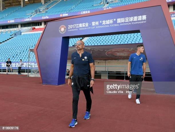 Head coach FC Internazionale Luciano Spalletti looks on before the press conference on July 20 2017 in Changzhou China