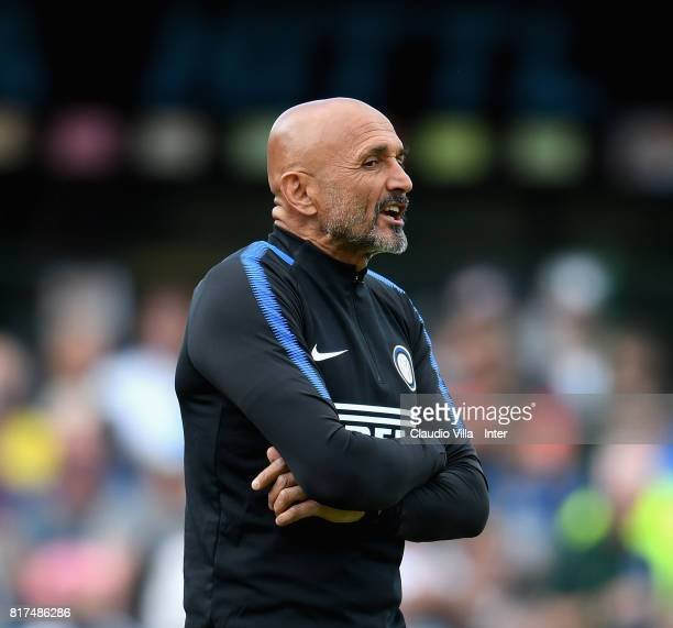 Head coach FC Internazionale Luciano Spalletti reacts during the PreSeason Friendly match between FC Internazionale and Nurnberg on July 15 2017 in...