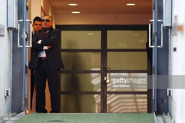 Head coach Felix Magath of Schalke looks on before the Bundesliga match between VfB Stuttgart and FC Schalke 04 at MercedesBenz Arena on March 5 2011...