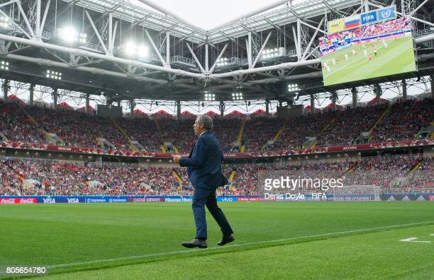 Head coach Fernando Santos of Portugal reacts during the Portugal v Mexico FIFA Confederations Cup Soccer Tournament PlayOff for Third Place at...