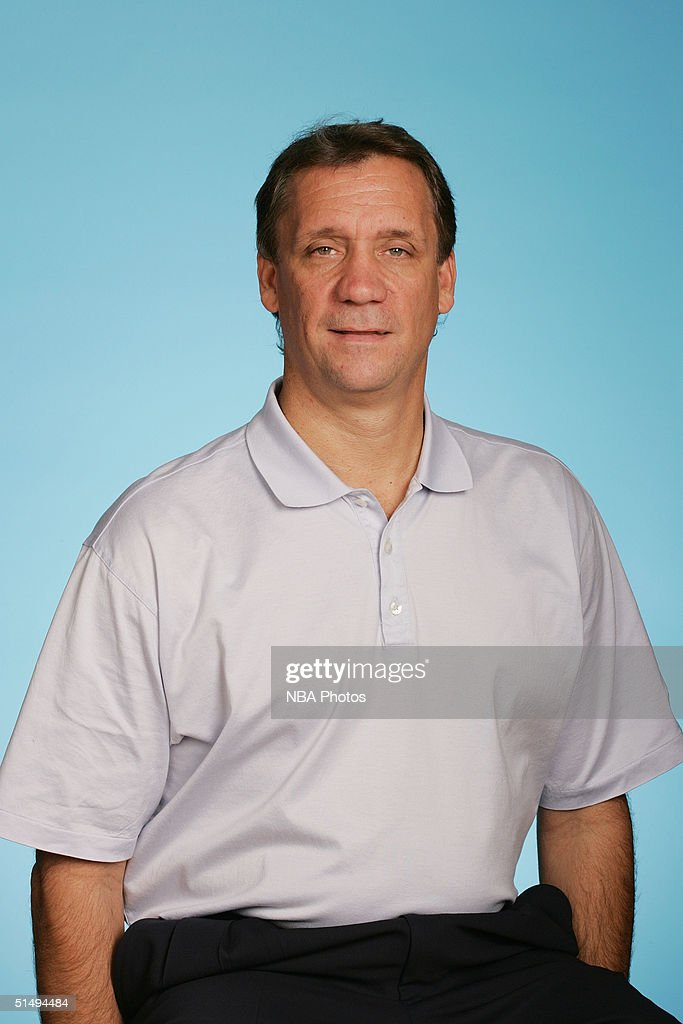 Head coach <a gi-track='captionPersonalityLinkClicked' href=/galleries/search?phrase=Flip+Saunders&family=editorial&specificpeople=206203 ng-click='$event.stopPropagation()'>Flip Saunders</a> of the Minnesota Timberwolves poses for a portrait during NBA Media Day on October 4, 2004 at the Target Center in Minneapolis, Minnesota.