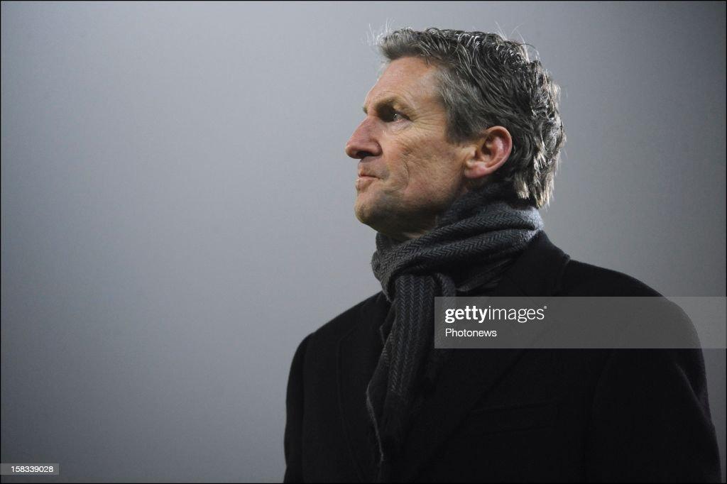 Head coach Francky Dury of ZulteWaregem during the Cofidis Cup 1/4 final away match between SV Zulte Waregem and KRC Genk in the Regenboog stadium on...