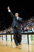 Head coach Frank Martin of the Kansas State Wildcats sends in a play during a game against the Texas Longhorns on January 18 2010 at Bramlage...