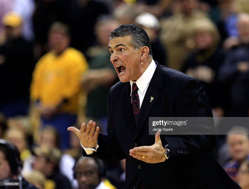 Head coach Frank Martin of the South Carolina Gamecocks reacts during the game against the Missouri Tigers at Mizzou Arena on January 22, 2013 in Columbia, Missouri.