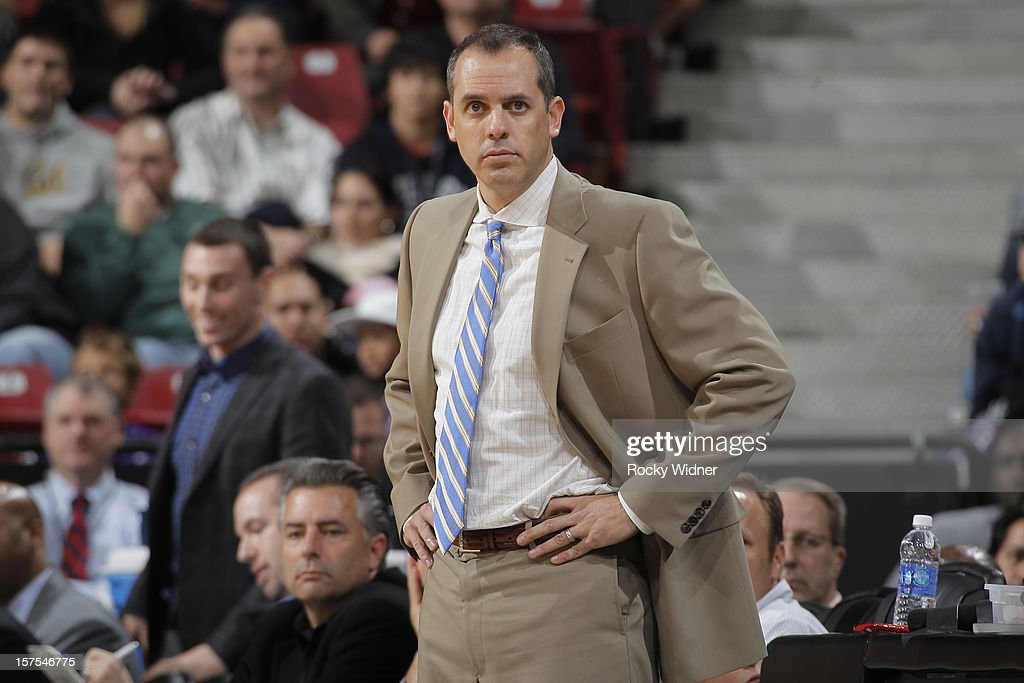 Head coach Frank Vogel of the Indiana Pacers in a game against the Sacramento Kings on November 30, 2012 at Sleep Train Arena in Sacramento, California.