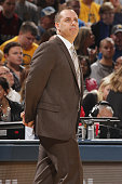 Head coach Frank Vogel of the Indiana Pacers looks on against the Miami Heat on December 11 2015 at Bankers Life Fieldhouse in Indianapolis Indiana...