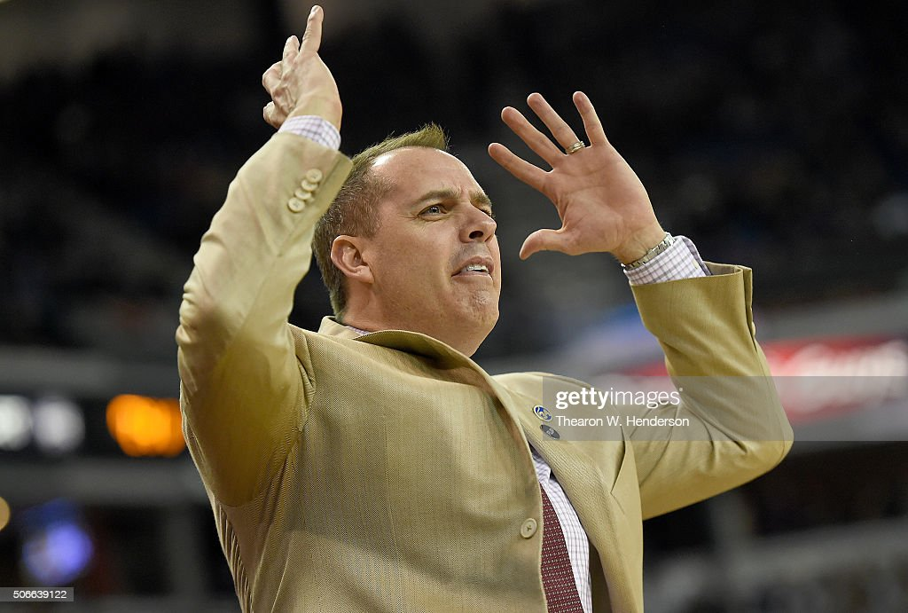 Head coach <a gi-track='captionPersonalityLinkClicked' href=/galleries/search?phrase=Frank+Vogel+-+Basketball+Coach&family=editorial&specificpeople=10043336 ng-click='$event.stopPropagation()'>Frank Vogel</a> of the Indiana Pacers reacts to a call against his team while playing the Sacramento Kings during an NBA basketball game at Sleep Train Arena on January 23, 2016 in Sacramento, California.