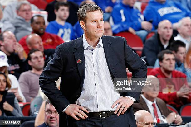 Head coach Fred Hoiberg gestures against the UAB Blazers during the second round of the 2015 NCAA Men's Basketball Tournamenat at the KFC YUM Center...