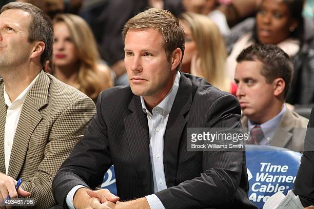 Head coach Fred Hoiberg of the Chicago Bulls looks on against the Charlotte Hornets during a preseason game at the Time Warner Cable Arena on October...
