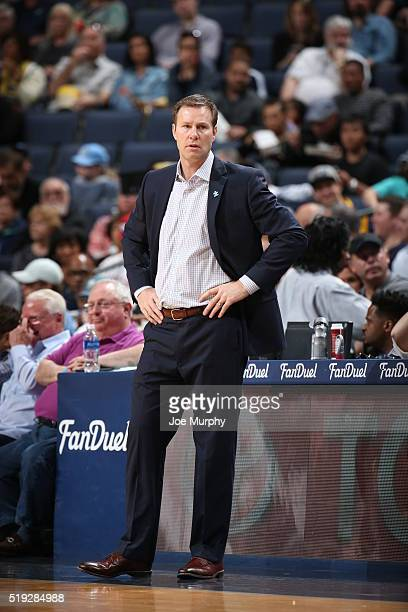 Head coach Fred Hoiberg of the Chicago Bulls looks on during the game against the Memphis Grizzlies on April 5 2016 at FedExForum in Memphis...