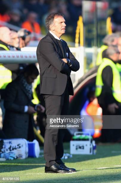 head coach Fulvio Fiorin of Ascoli Picchio looks on during the Serie B match between Parma Calcio and Ascoli Picchio at Stadio Ennio Tardini on...