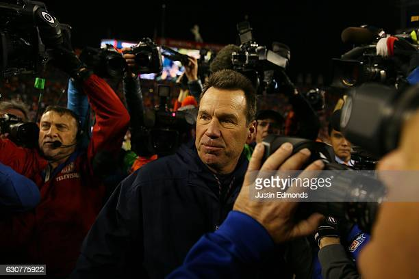 Head coach Gary Kubiak of the Denver Broncos after defeating the Oakland Raiders 246 at Sports Authority Field at Mile High on January 1 2017 in...