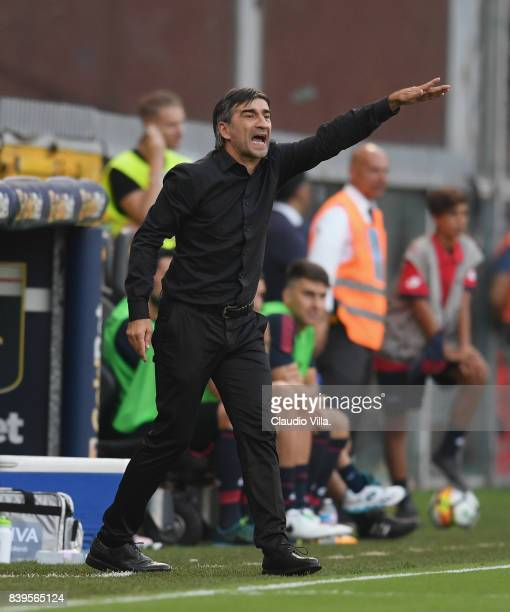 Head coach Genoa CFC Ivan Juric reacts during the Serie A match between Genoa CFC and Juventus at Stadio Luigi Ferraris on August 26 2017 in Genoa...